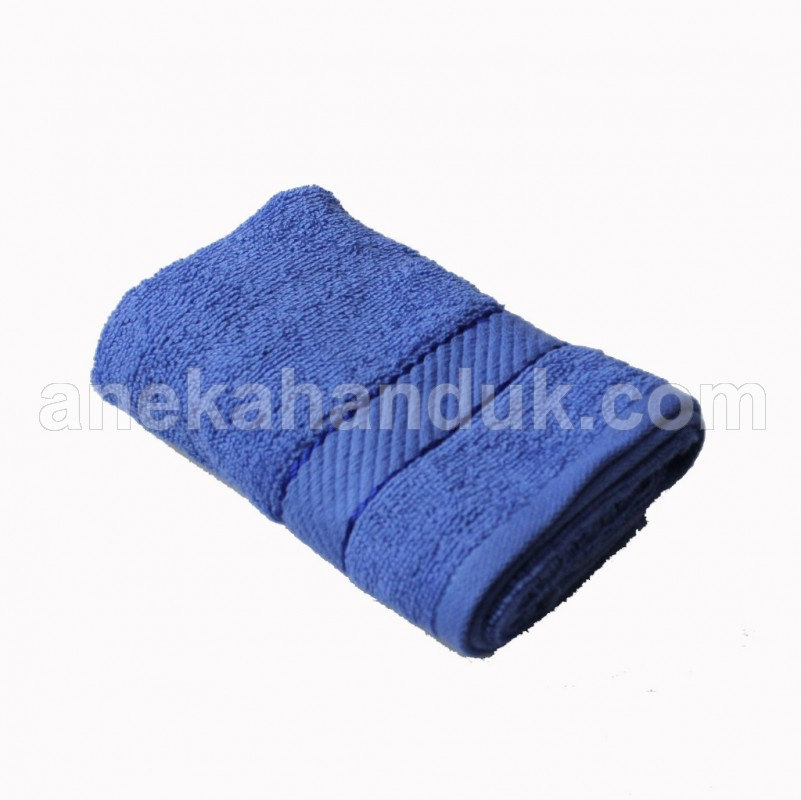 Chalmer Handuk uk. 30x70 Biru Border (HMB-206)
